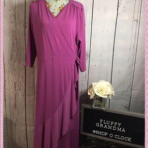 Lane Bryant Lavender Wrap Dress